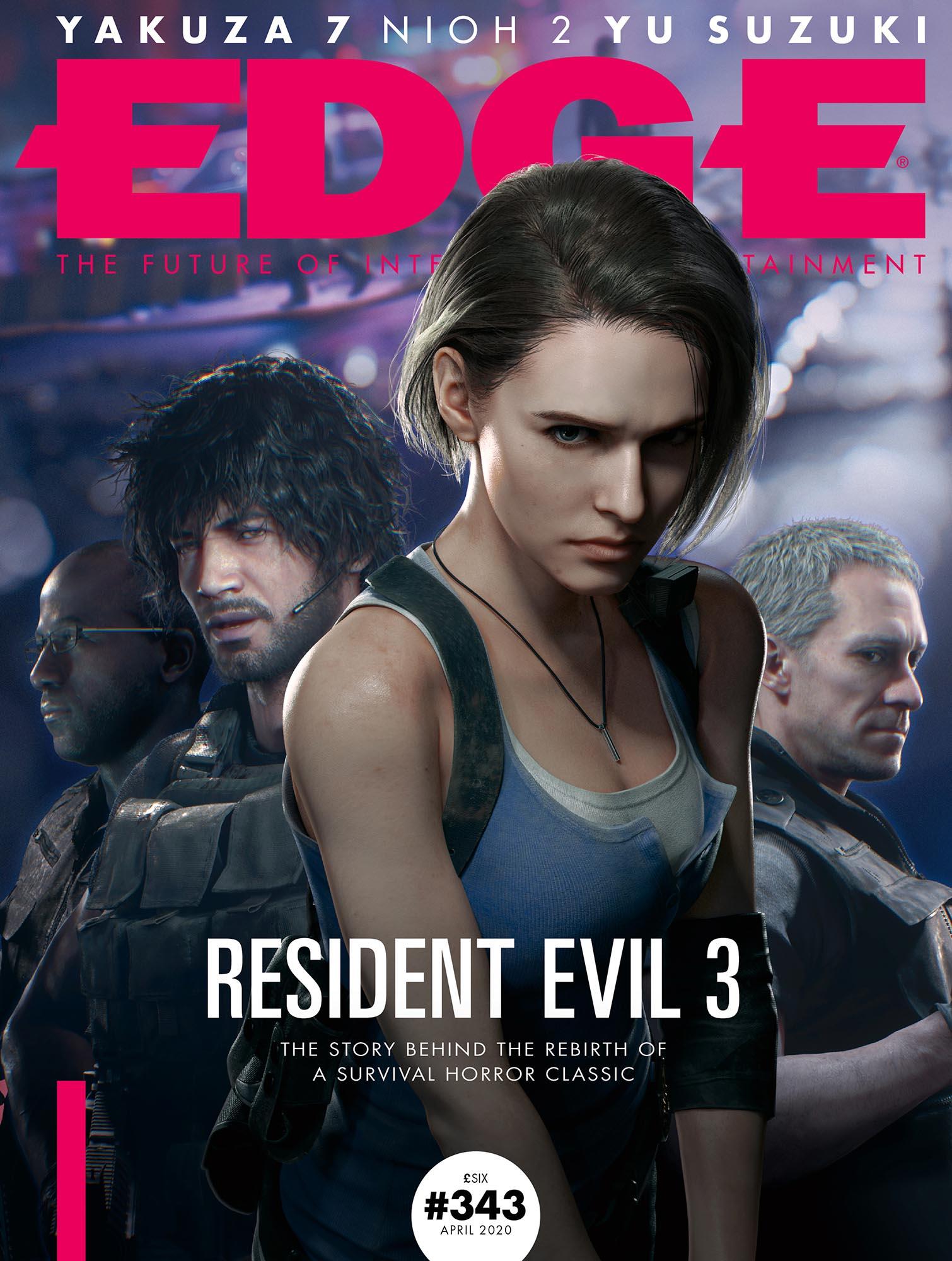 《生化危机3:重制版》登Edge杂志封面 吉尔性感亮相
