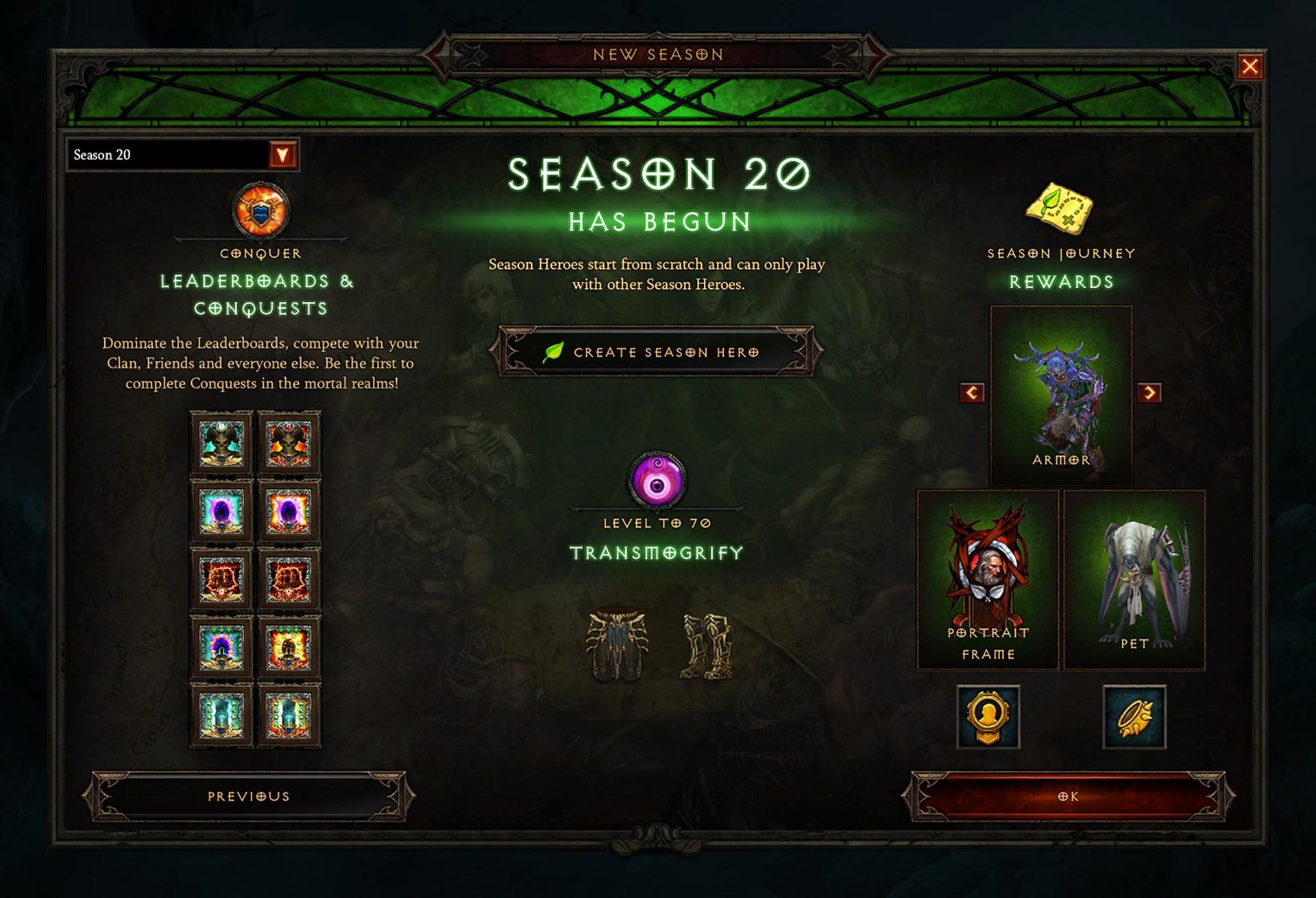 《暗黑破坏神3》第20赛季3月13日开启 全新增益效果