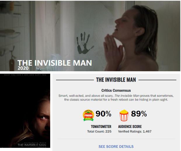 恐怖片《隐身人》首日票房980万夺冠 已收回成本