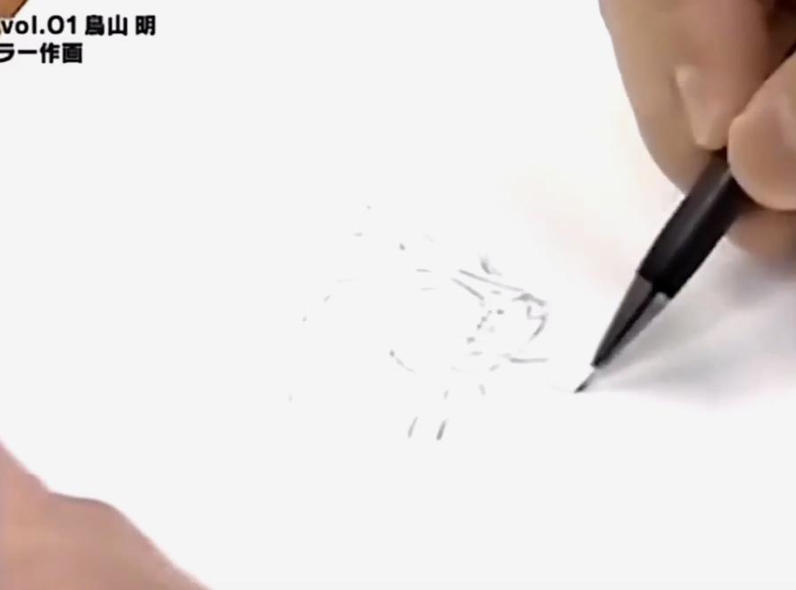 行云流水大师风范!网友分享鸟山明当年手绘孙悟空插画过程