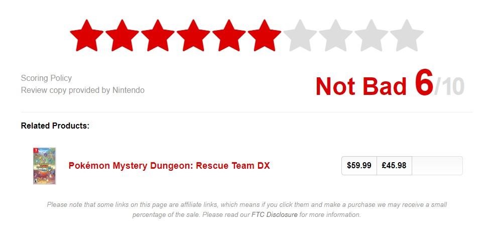 《宝可梦:不可思议的迷宫救助队DX》IGN6分 千篇一律的迷宫之旅