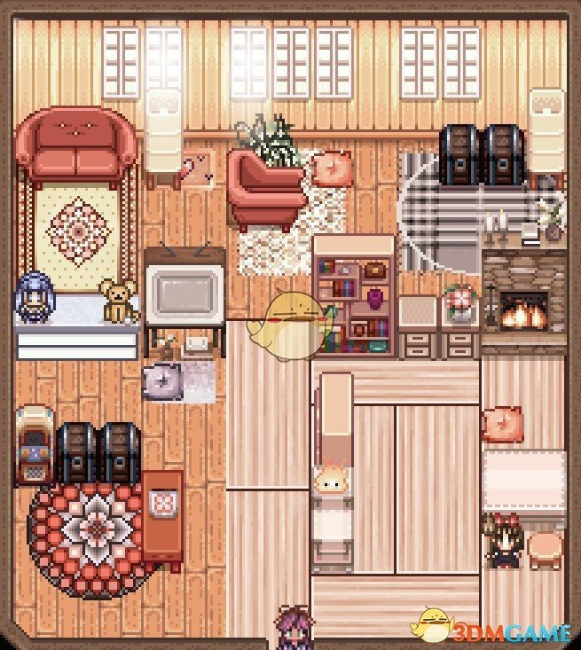 《星露谷物语》东方地毯和榻榻米套装MOD