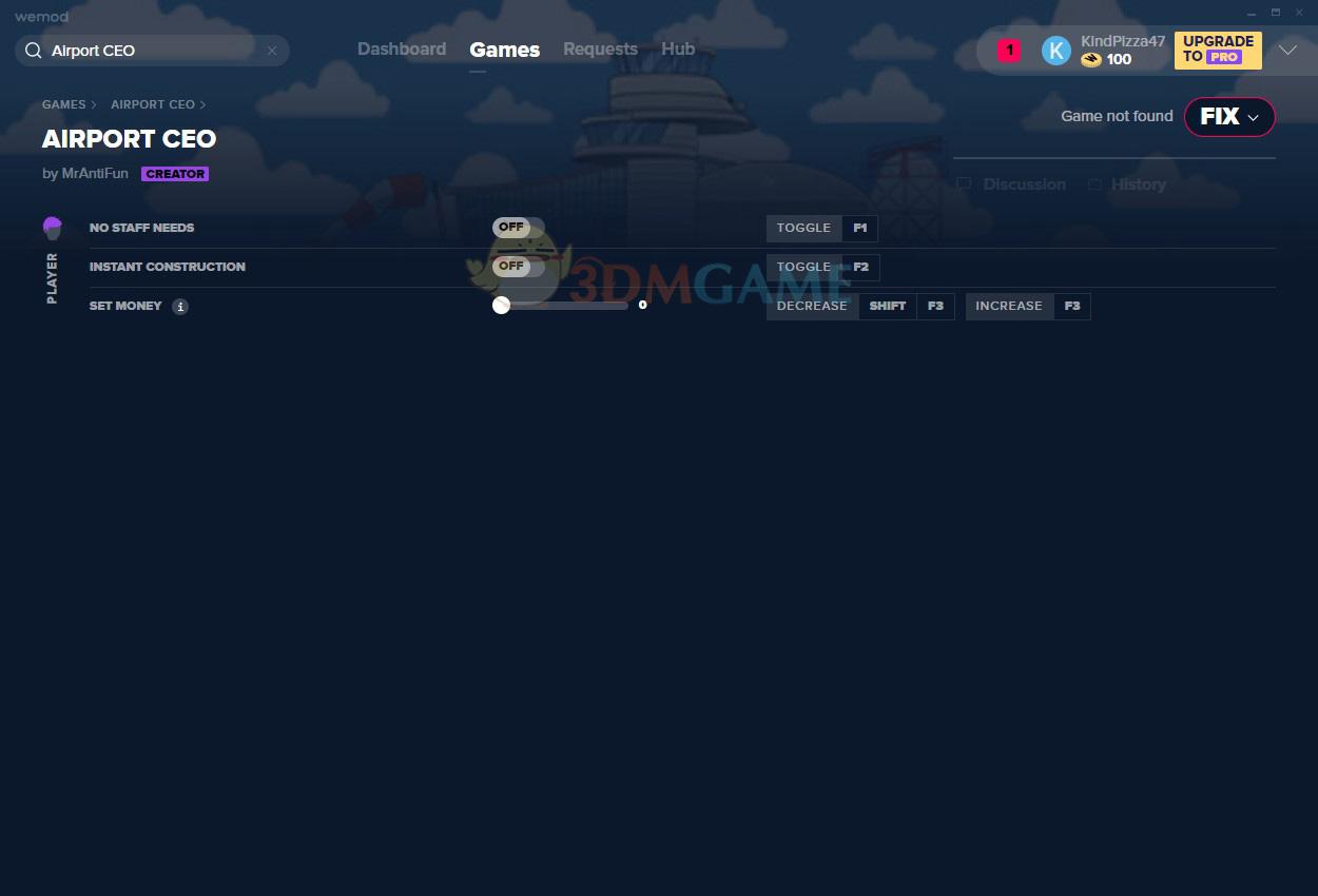 《机场CEO》v2021.01.08三项修改器[MrAntiFun]