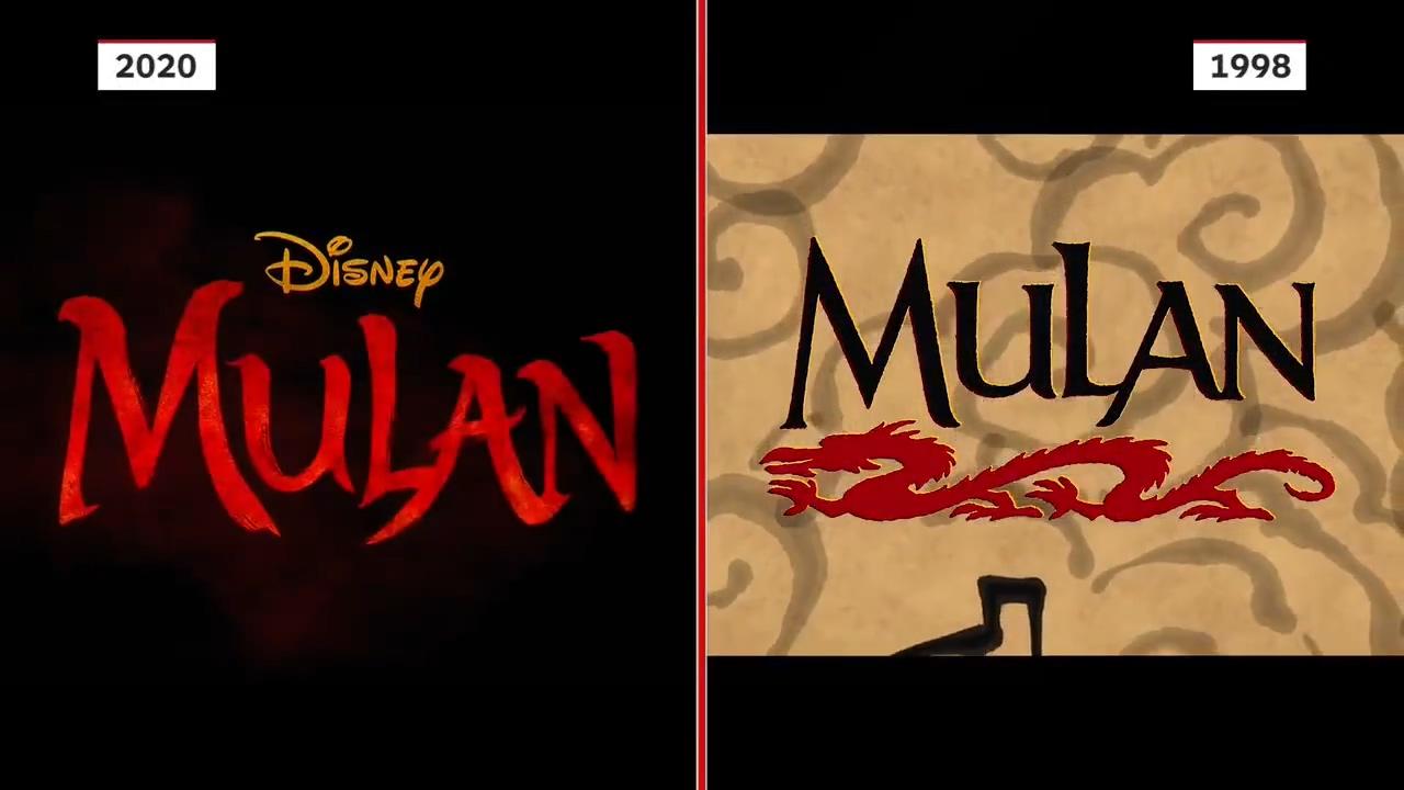 《花木兰》真人版电影和动画版预告片对比