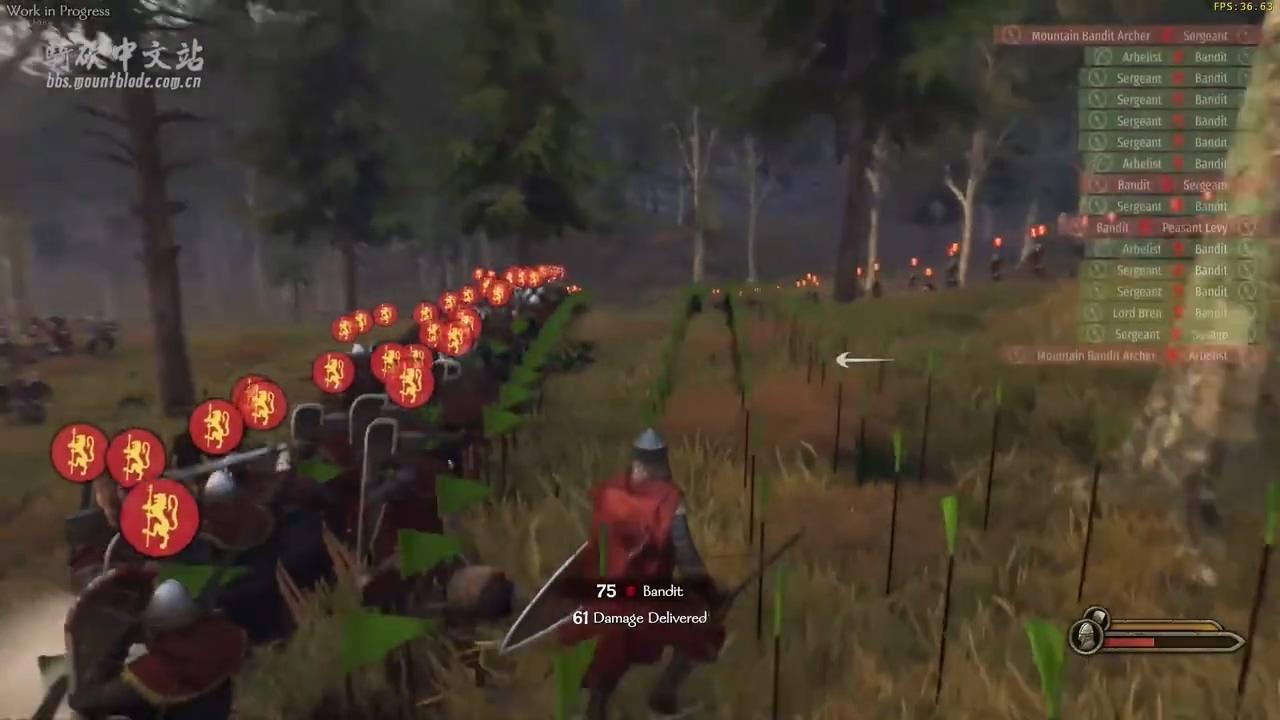 《骑马与砍杀2:霸主》全新野战阵型系统演示