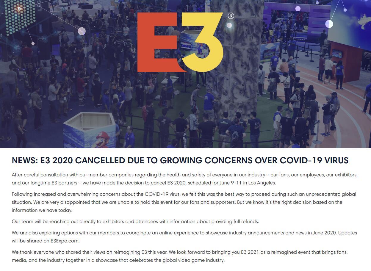 E3的取消,只是游戏市场遭遇冲击的缩影