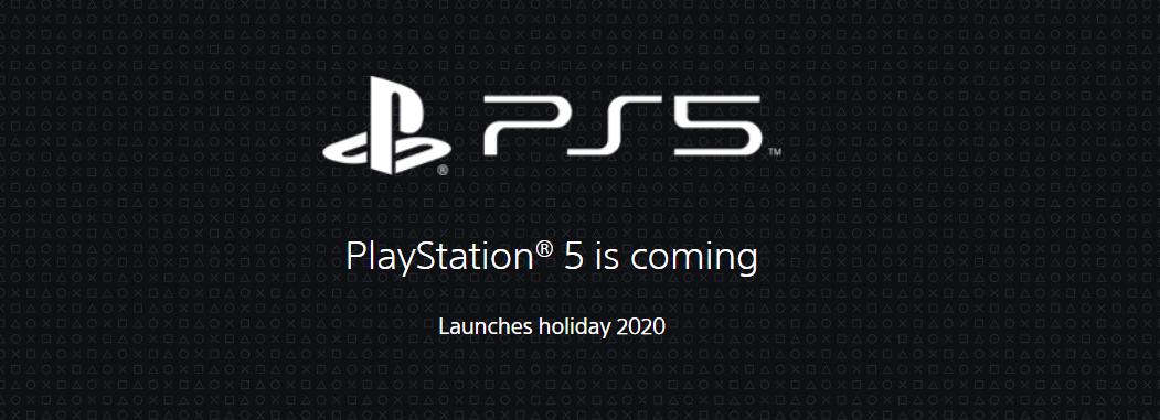 索尼更新PS5官网 重申2020年圣诞假期发售