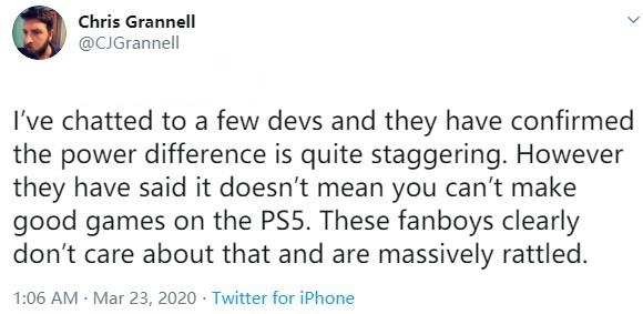 前索尼开发人员:XSX和PS5性能差距难以置信 但是不影响PS5做出好游戏