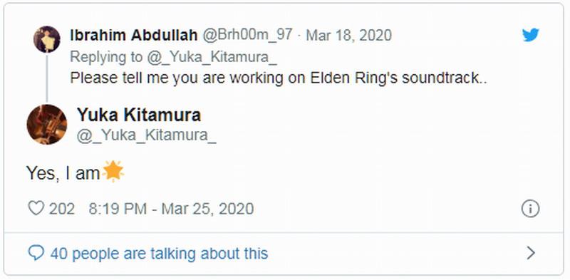 《只狼》作曲家北村友香参与《Elden Ring》配乐创作