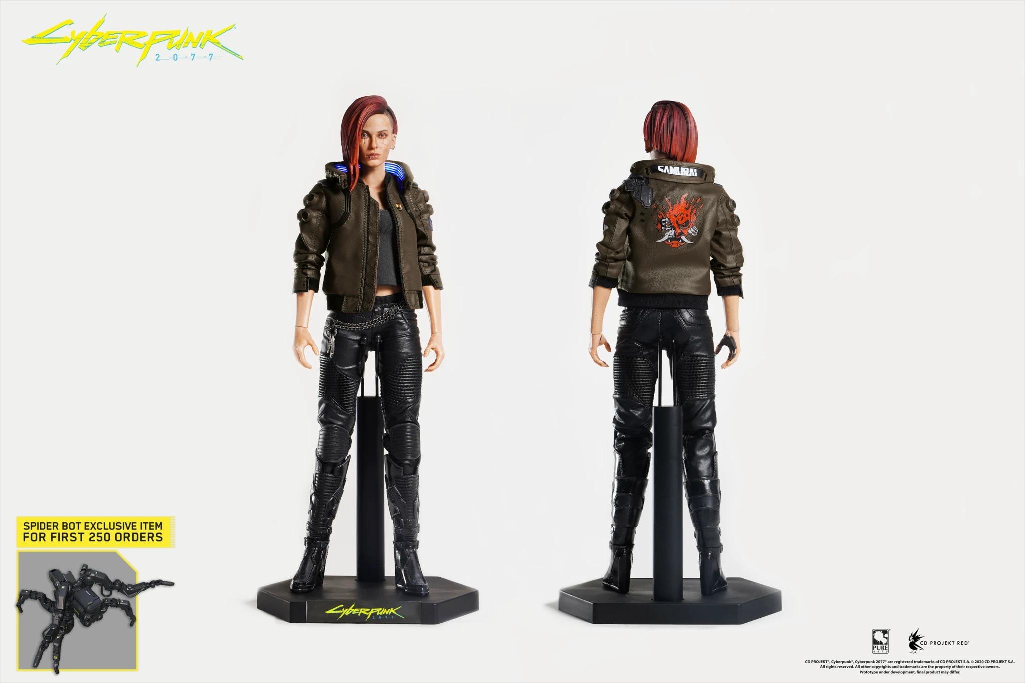 《赛博朋克2077》女性主角V手办推出 细节逼真