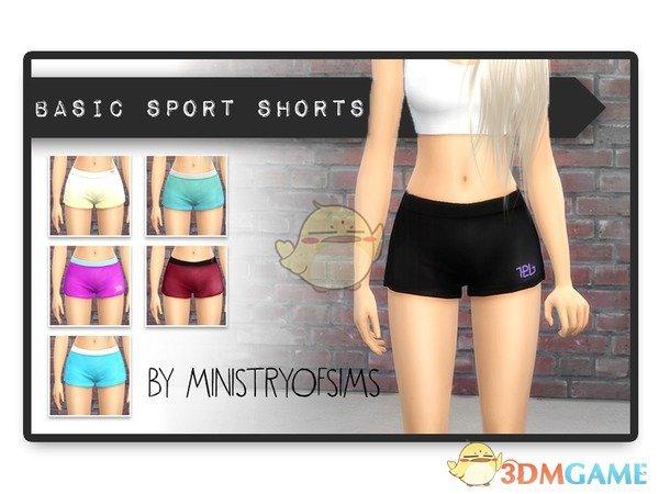 《模拟人生4》女款舒适运动短裤MOD