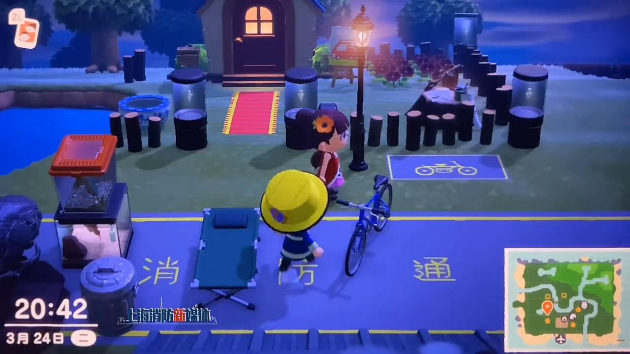 上海消防用《动物森友会》提醒:请勿堵塞消防通道