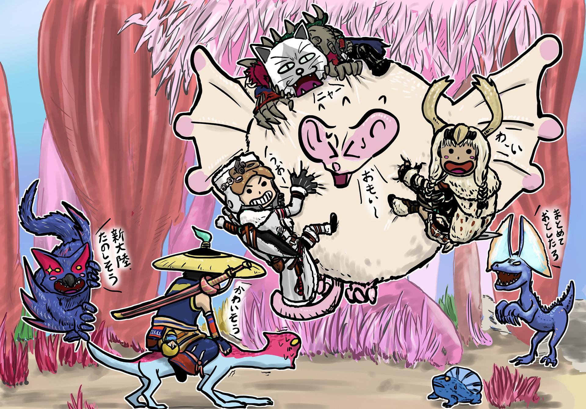 《怪物猎人》官方插画大赛评选揭晓 高玩手绘精美异常