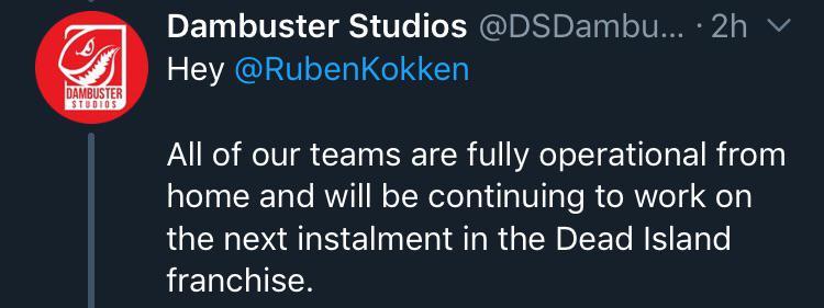 开发商:即使在家上班我们也在努力打造《死亡岛2》