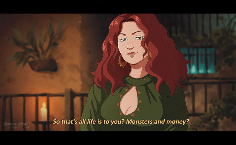 如果《巫师》剧集是部动画片 画师绘制剧版经典场景