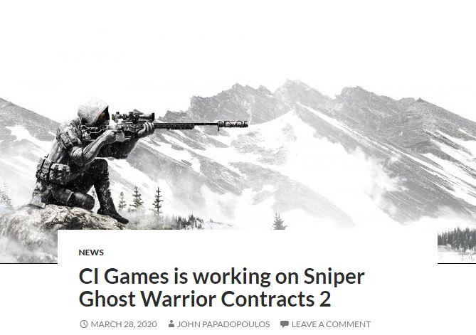 开发商透露《狙击手:幽灵战士契约 2》正火热开发中
