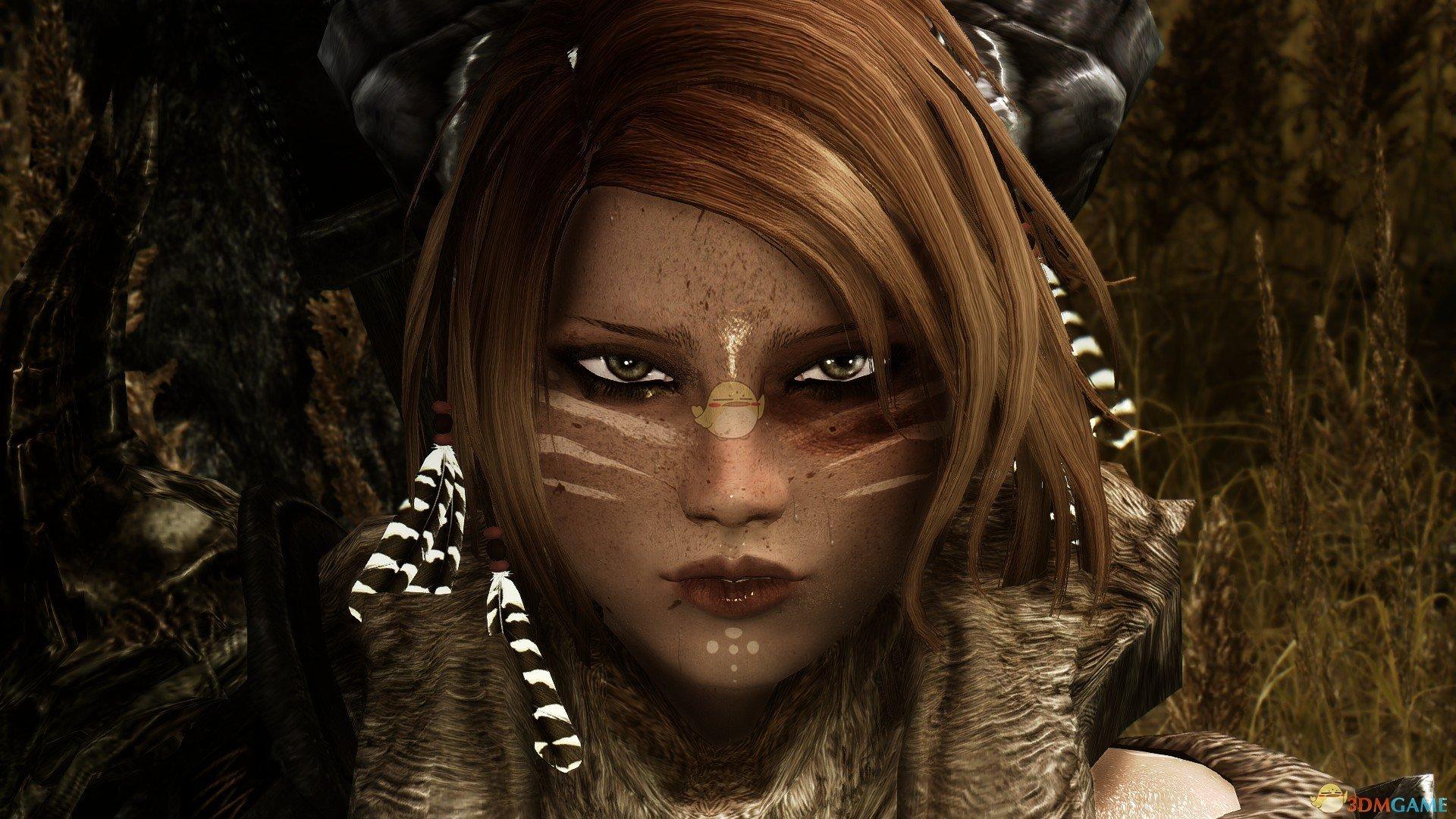 《上古卷轴5:天际重置版》Leijona性感野蛮人女性随从MOD