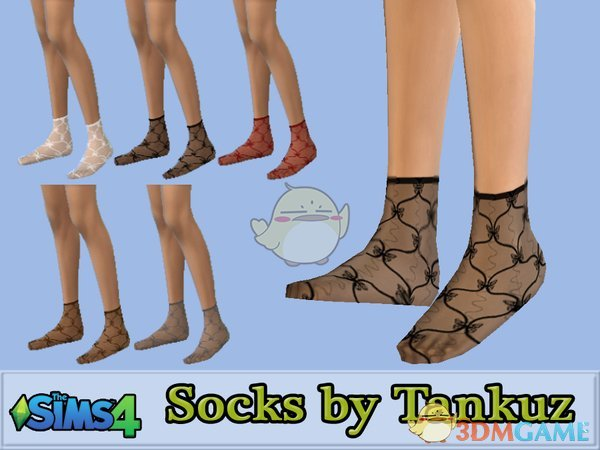 《模拟人生4》透明丝质短袜MOD