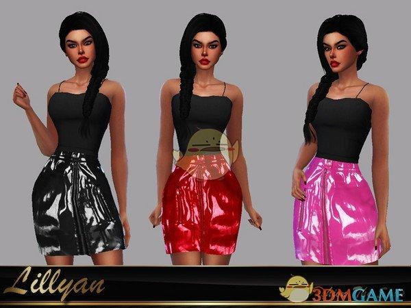 《模拟人生4》金属质感皮裙MOD