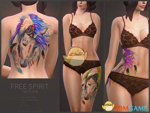 《模拟人生4》彩色马头涂漆纹身MOD
