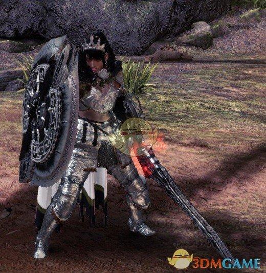 《怪物猎人:世界》黑色皇家星之盾斧MOD