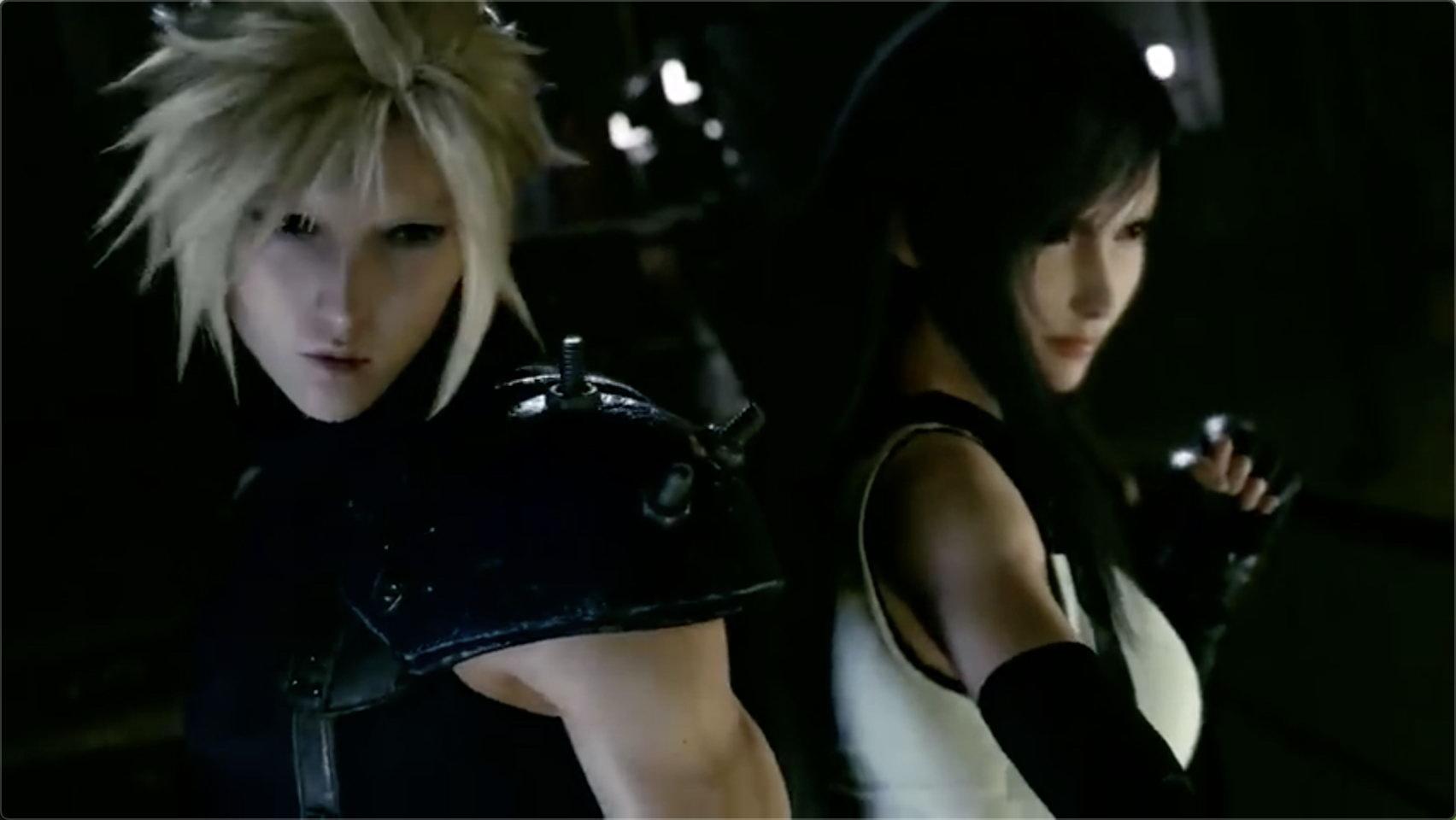 《最终幻想7:重制版》爱丽丝和蒂法角色预告 女神登场