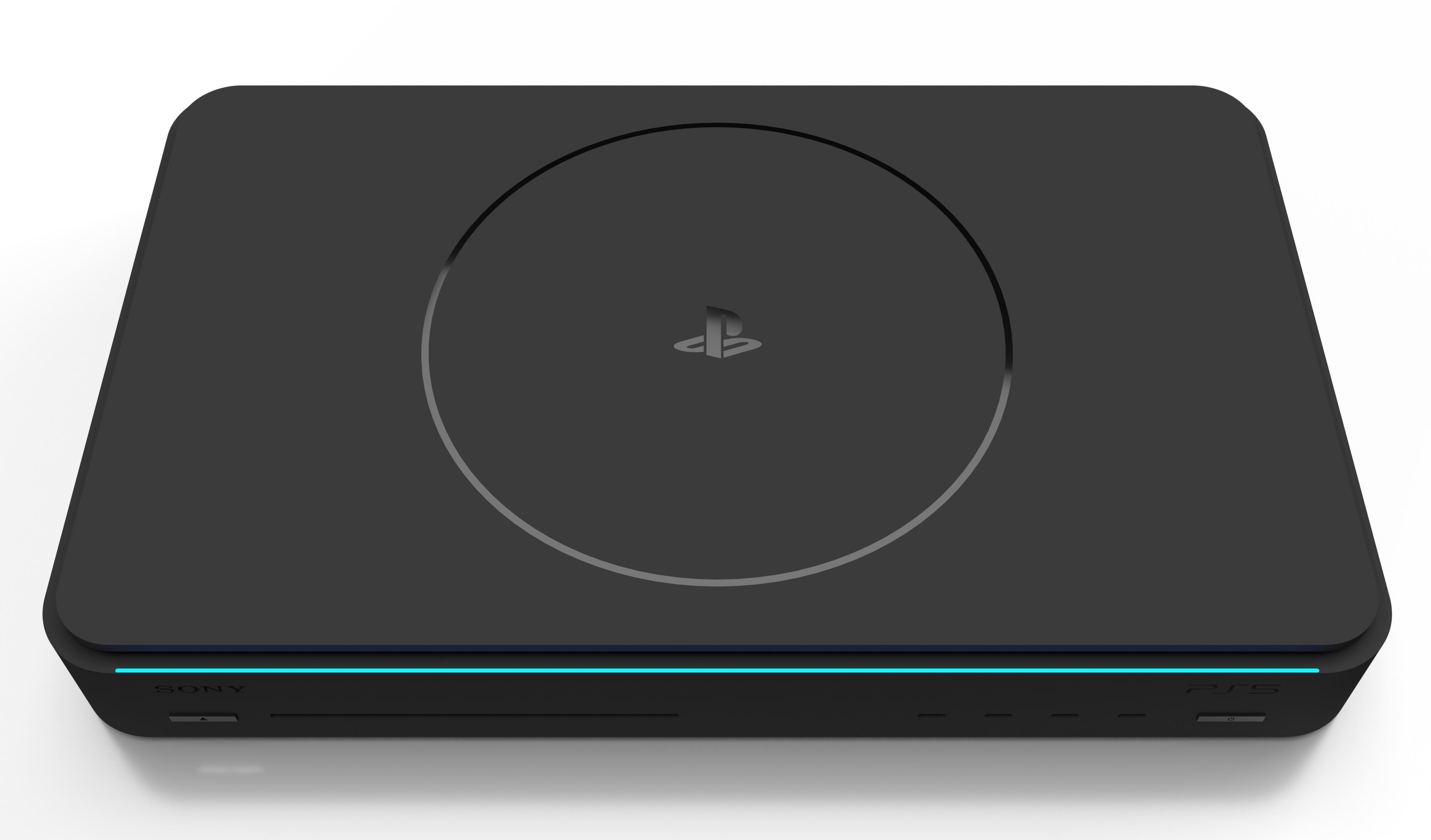 国外玩家自己设计的PS5概念图 极简风格+PS1复古风