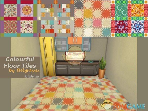 《模拟人生4》彩色地砖MOD