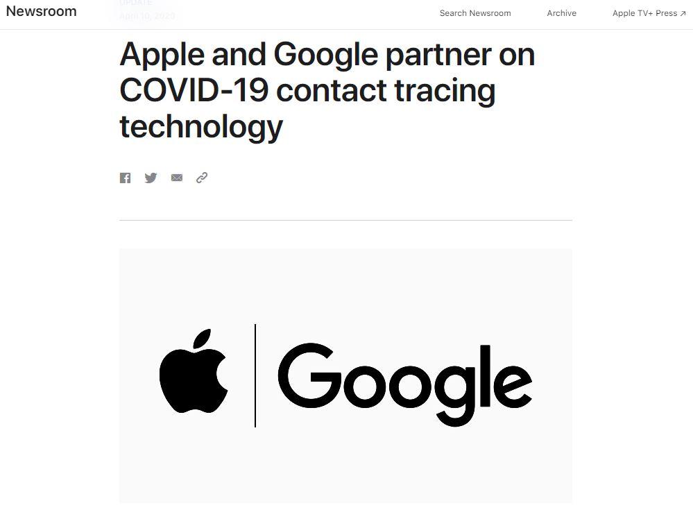苹果与谷歌达成合作 联手打造应用追踪新冠病毒传播