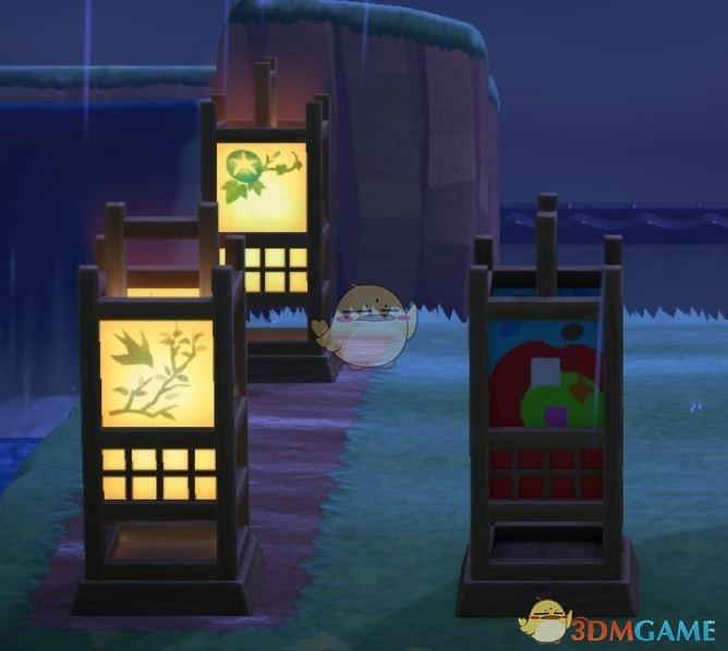 《集合啦!动物森友会》方形纸罩座灯的色彩分析