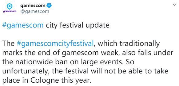 2020科隆游戏展城市节不再举办 线下活动或全部取消