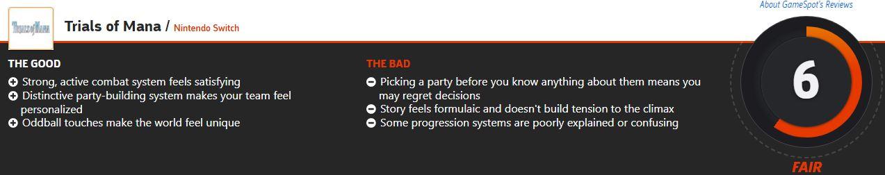《圣剑传说3:重制版》IGN 8分 游戏战斗系统获一致好评