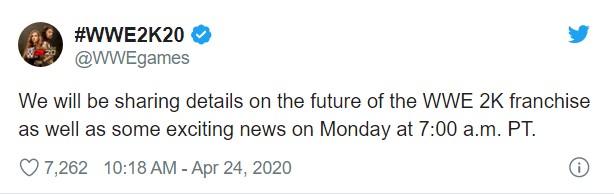 2K将于下周一公布WWE 2K系列未来动向