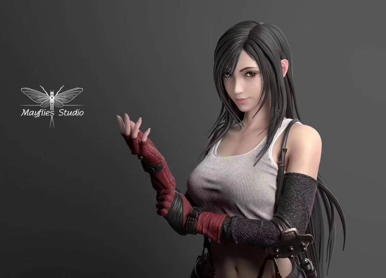 《FF7重制版》蒂法树脂雕像公开:战斗女神登场!