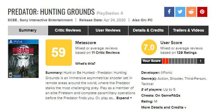 《铁血战士:狩猎场》IGN 5分 失望大于兴奋