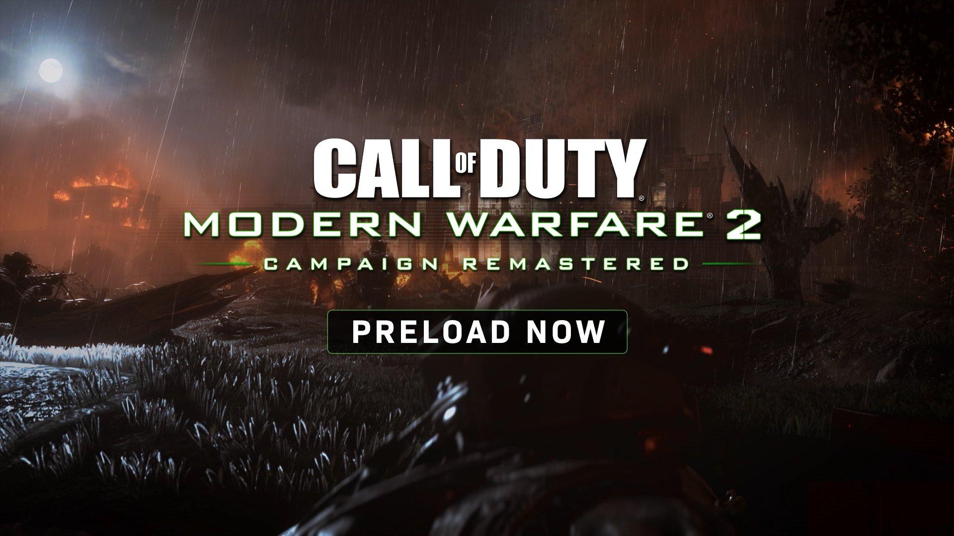《使命召唤6:现代战争2重制版》Xbox/PC版预载开启