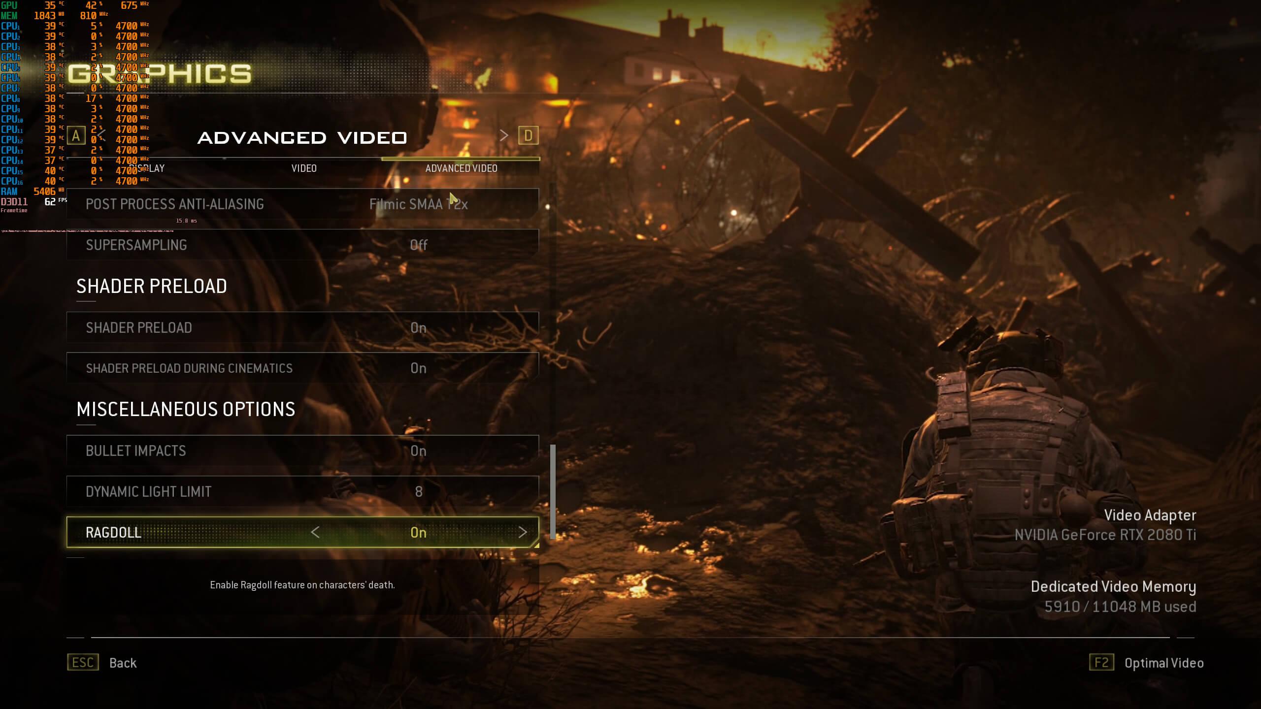 《使命召唤6:现代战争2 重制版》PC版性能表现分析
