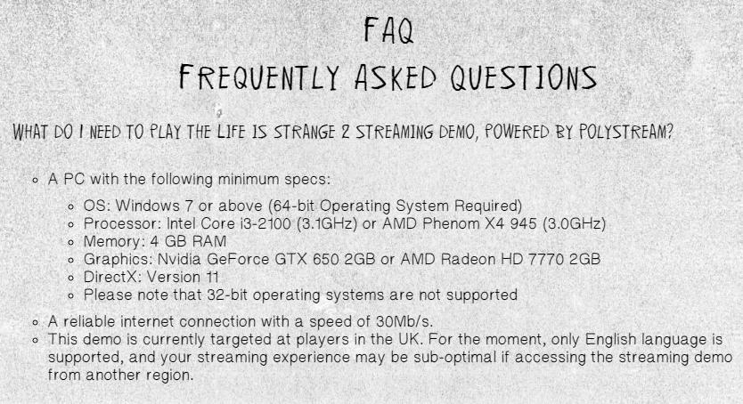 官方推出《奇异人生2》流媒体试玩 网速需30Mb/s