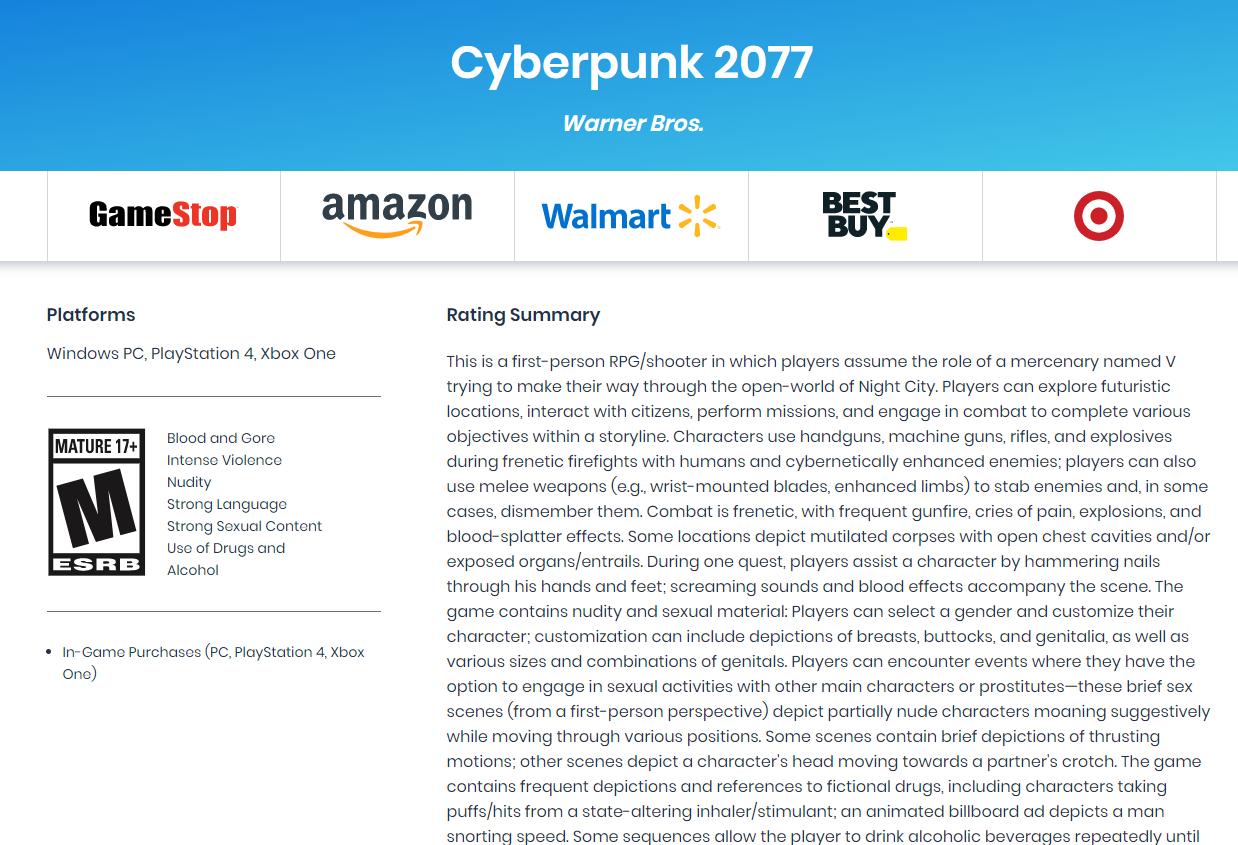 CDPR澄清:《赛博朋克2077》绝无微交易或内购