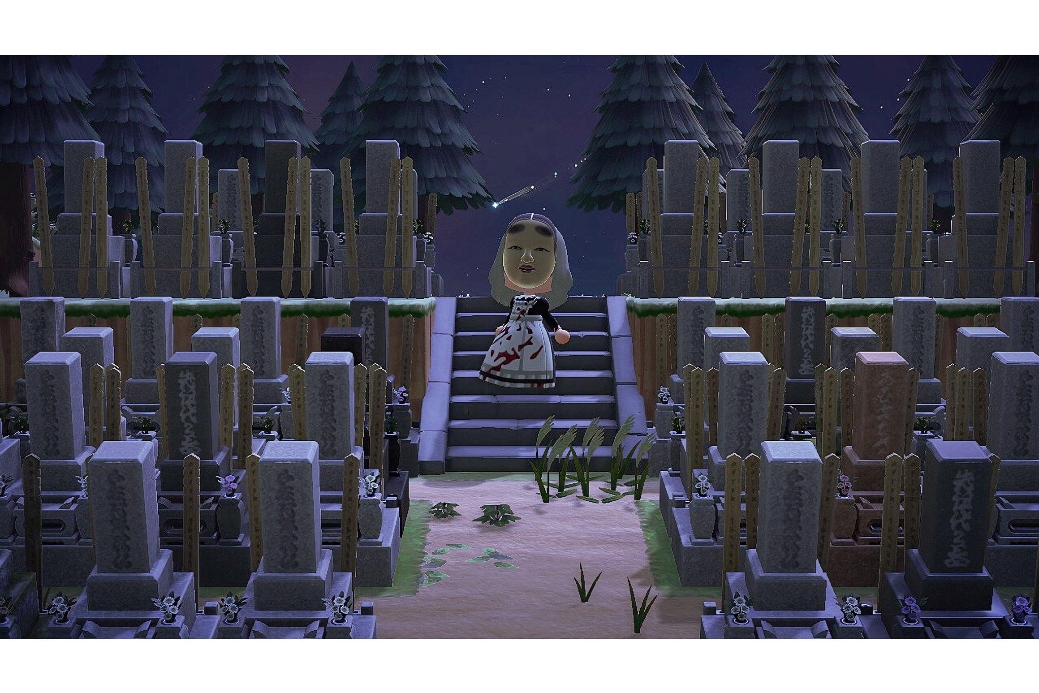 村民都吓哭了 《动森》玩家在岛上摆满1500个和风墓碑