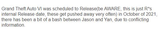 传《GTA6》原计划21年10月发售 如今因大修而推迟