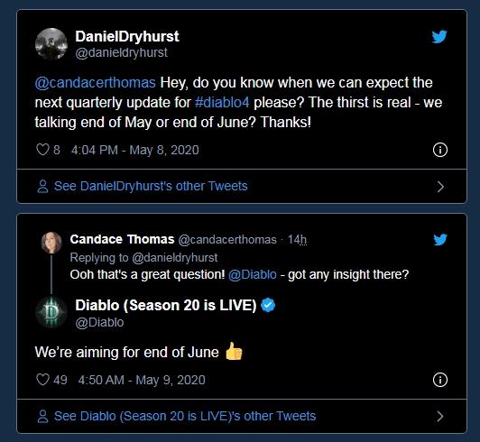 暴雪计划于6月底推出《暗黑破坏神4》新更新情报