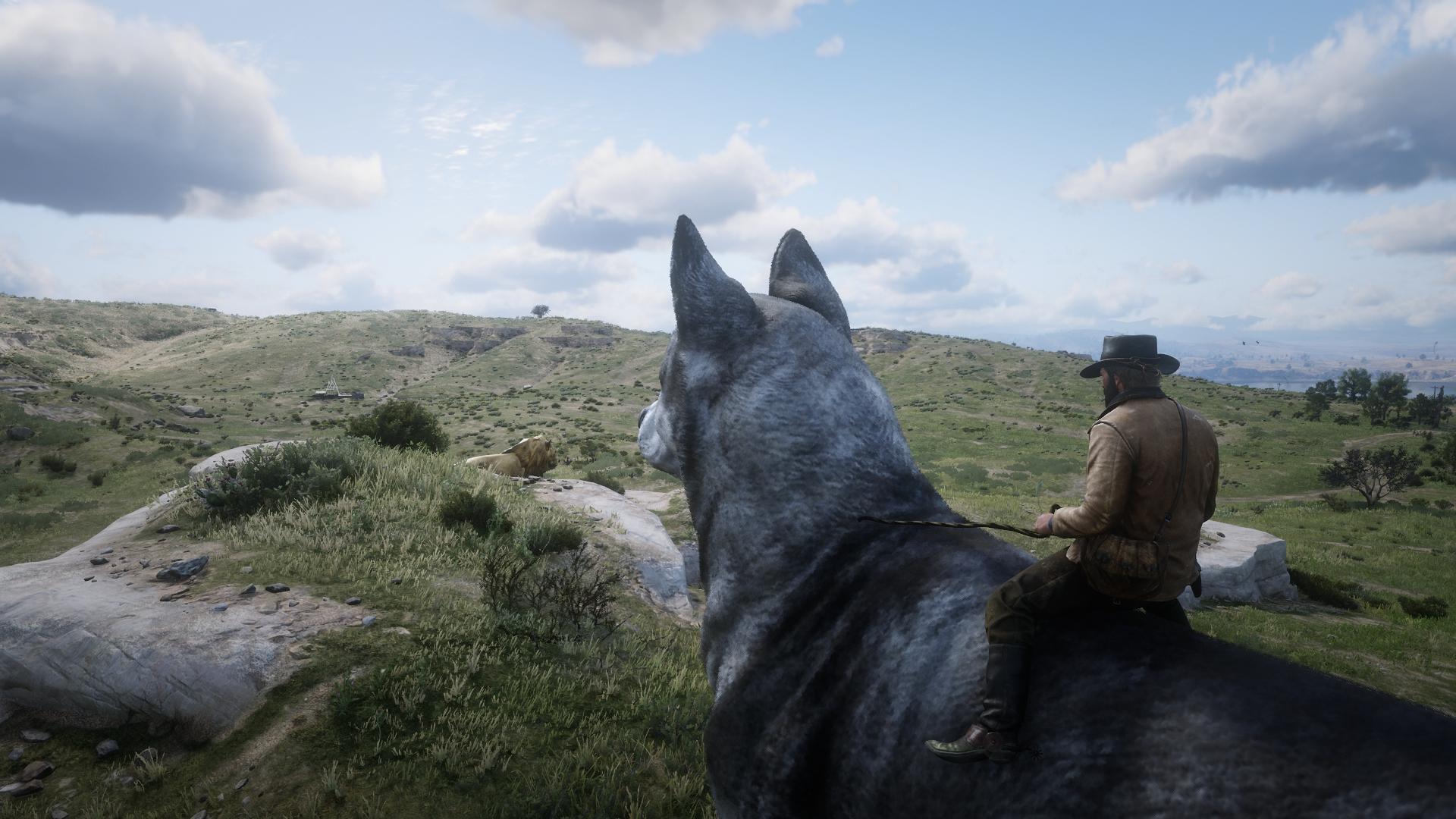 《荒野大镖客2》坐骑MOD太拉风 大猫大狗都能骑