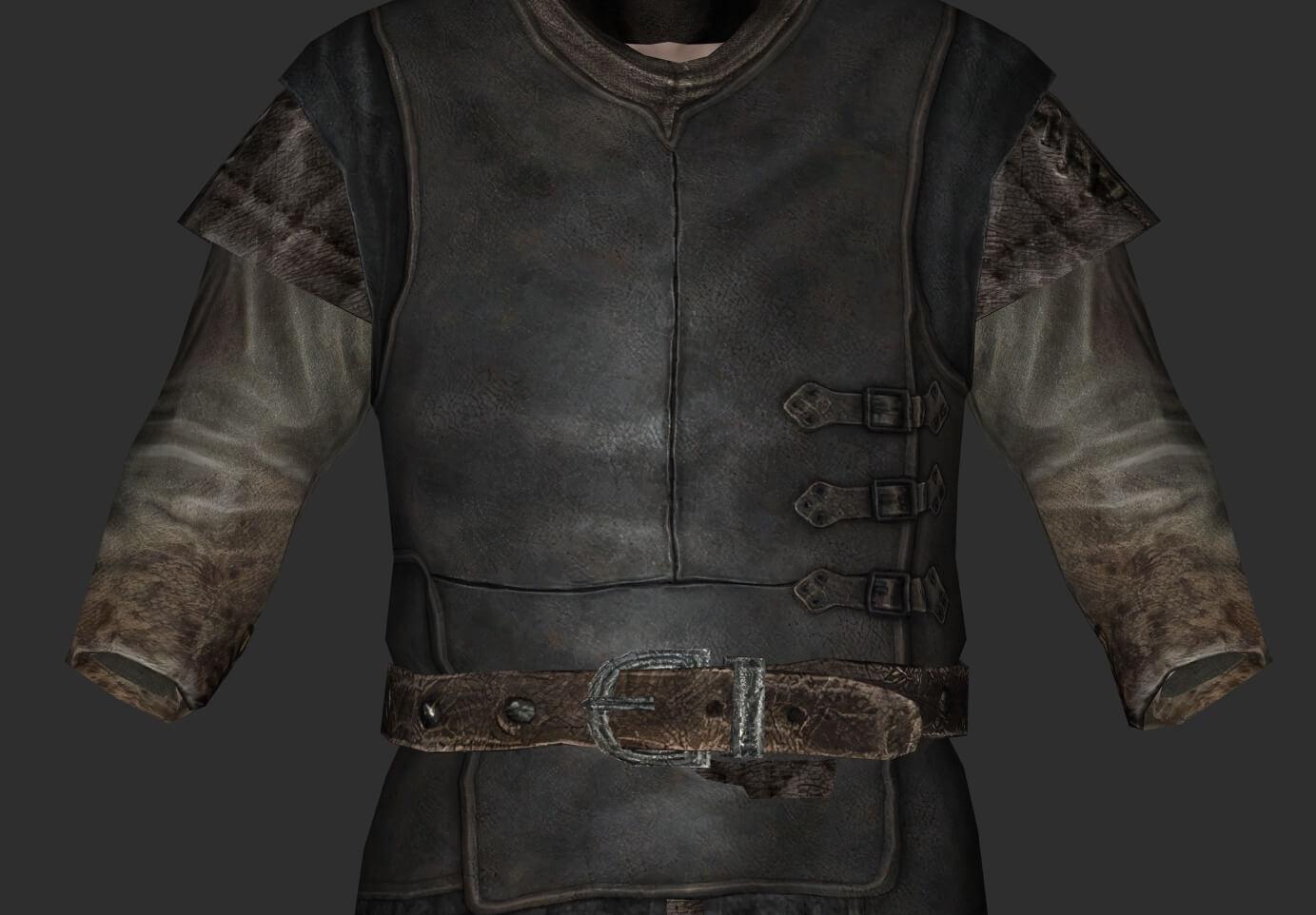 AI增强材质包让《上古卷轴5》普通衣物焕然一新