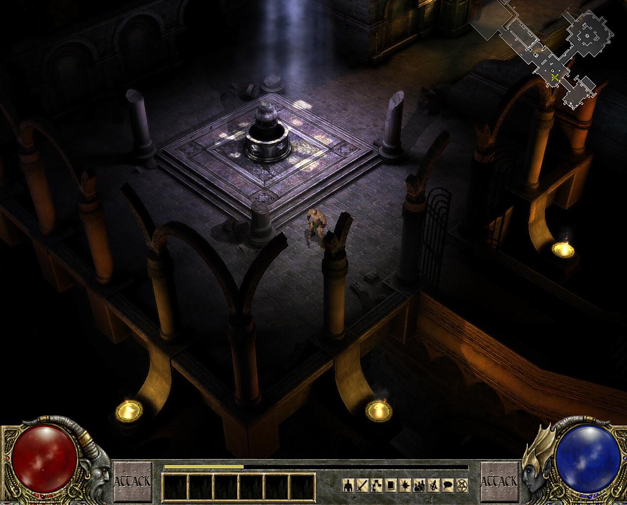 《暗黑3》早期开发版新截图 浓浓的哥特式暗黑气息
