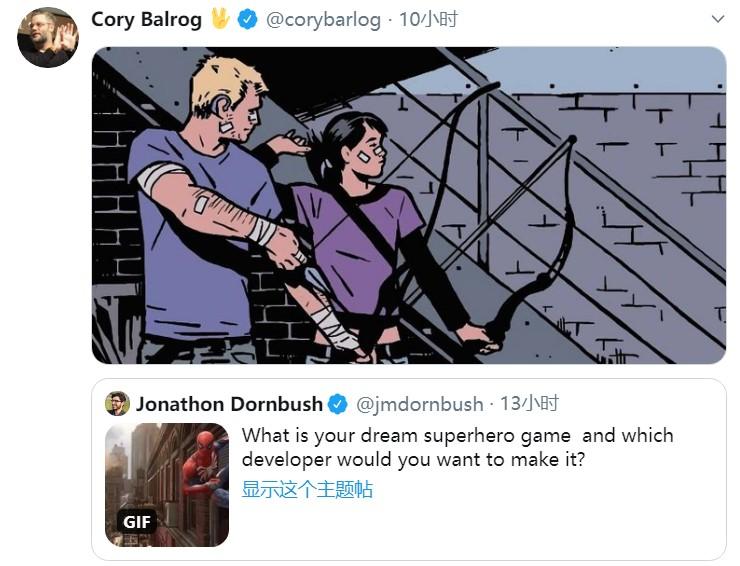 """《战神4》制作人最想做的超英游戏:竟然是""""鹰眼"""""""