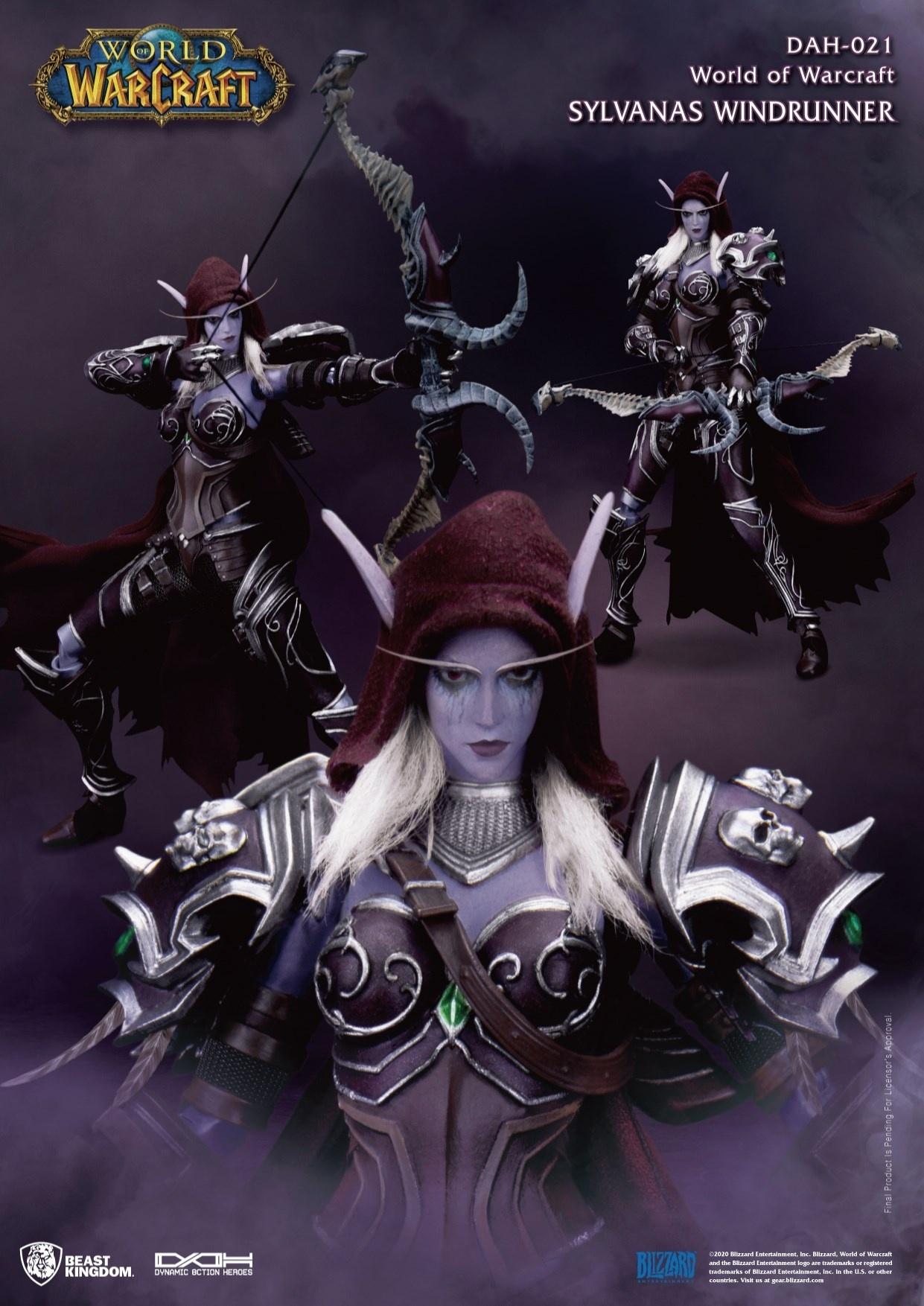 《魔兽》希尔瓦娜斯可动雕像预售开启 女王英姿飒爽