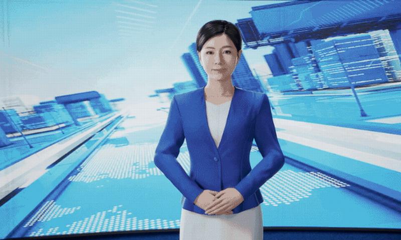 全球首个3D版AI合成主播亮相 以中国女记者为原型