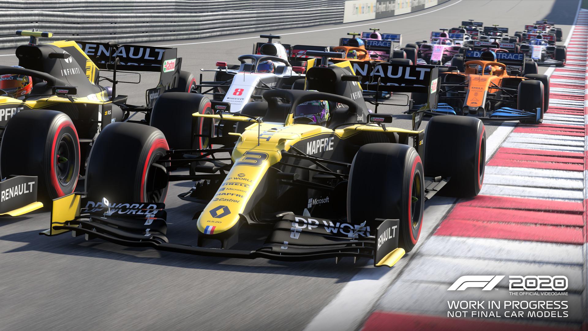 《F1 2020》摩纳哥赛道演示 极具挑战性的狭窄赛道
