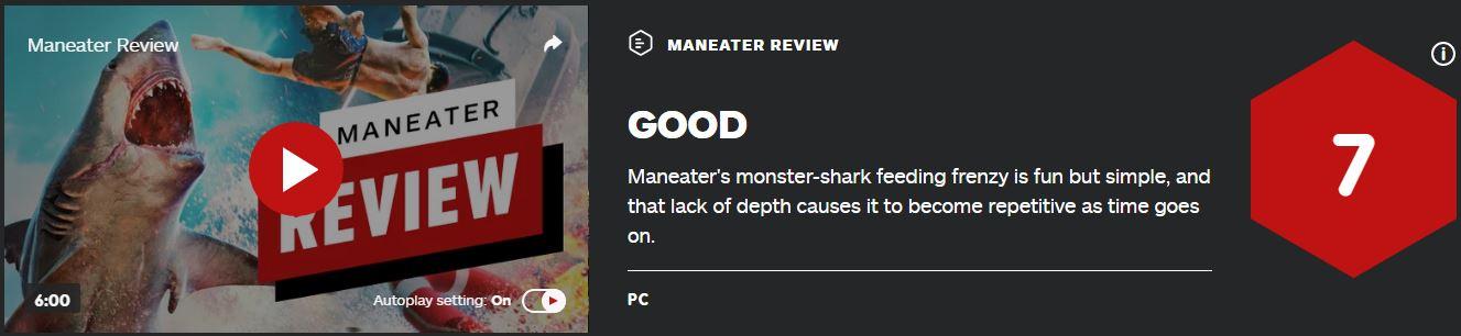 《食人鲨》IGN 7分:玩法有趣但缺乏深度
